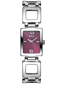 s.Oliver Damen-Armbanduhr Analog Quarz Edelstahl SO-2811-MQ
