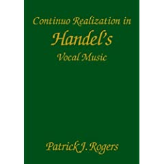 Continuo Realization in Handel's Vocal Music (Studies in Music)