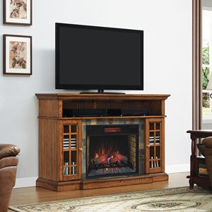 ClassicFlame Lakeland Infrared Media Console in Premium Oak - 28MM6307-O107