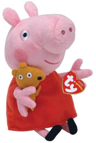 Imagen de Ty Peppa Pig Reino Exclusivo Beanie Baby Peppa Pig