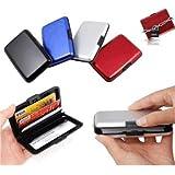 Portefeuille, porte cartes en aluminium anti-choc