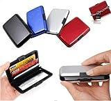 Porte Carte crédit/visite en aluminium - Portefeuille Antichoc - couleur argent