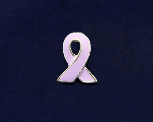 Lavender Ribbon Pin - Silver Trim Tac (50 Pins)