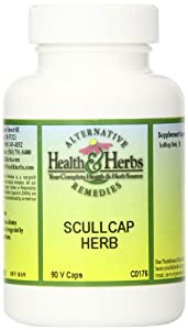 Alternative Health & Herbs Remedies Scullcap Herb Capsules, 90-Count Bottle