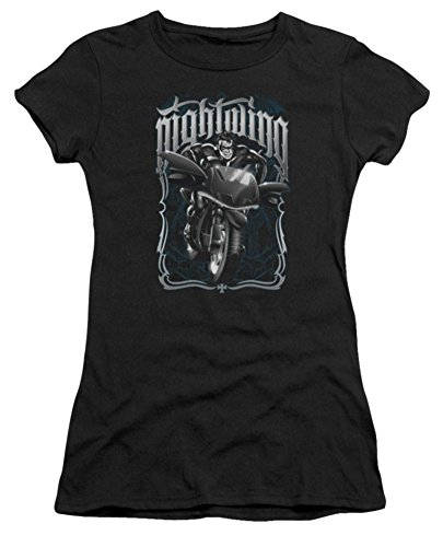 Batman Nightwing: Biker Ladies Junior Fit T-Shirt