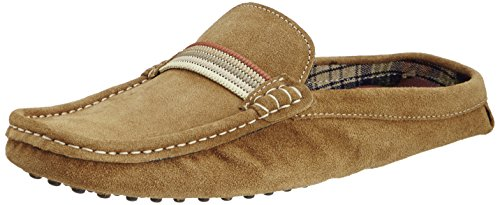 Famozi Famozi Men's Leather Clogs And Mules (Brown)