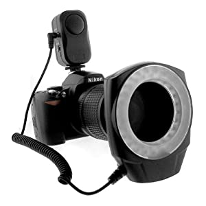 GTMax Macro Ring Flash LED Light Works with Canon/Sony/Nikon/Sigma/Olympus lenses DSLR Digital Camera