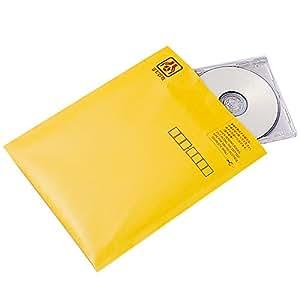 ナカバヤシ CD&DVD郵送用封筒(10枚組) イエロー CD-602-10