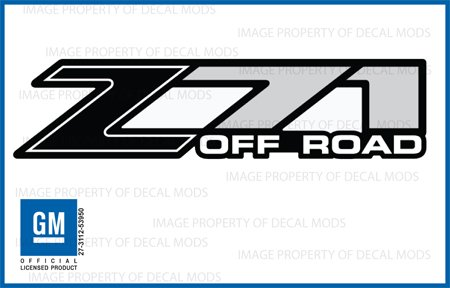 Check Out This Chevy Silverado Z71 Off Road Black decals stickers - FB (2001-2006) bed side 1500 250...