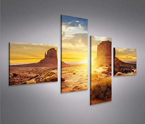 Quadro moderno Monument Valley 4L Stampa su tela - Quadro x poltrone salotto cucina mobili ufficio casa - fotografica formato XXL