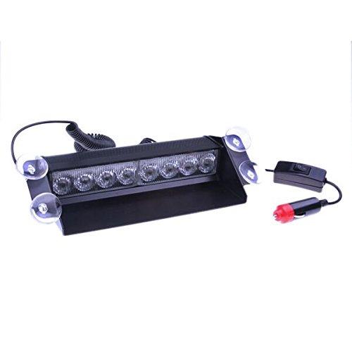 AOTTIC Dash 8 LED Lampe d'urgence véhicule voiture avertissement flash Lumière Bleu 12 V 8 LED 4 x 4 type de plus UV M