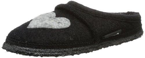 Nanga Girls Herz Slippers Black Schwarz (Schwarz) Size: 12.5 (31 EU)