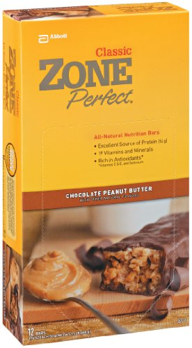 Zoneperfect All Natural Nutrition Bar, Chocolate Peanut Butter, 1.76-Ounce Bars In 12-Count Boxes (Pack Of 2)