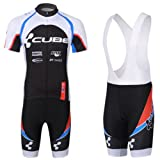 Cgecko 2013 New Styles Short Sleeve Bicycle Cycling Jersey & Bib Short Coolmax Padding Team CUBE