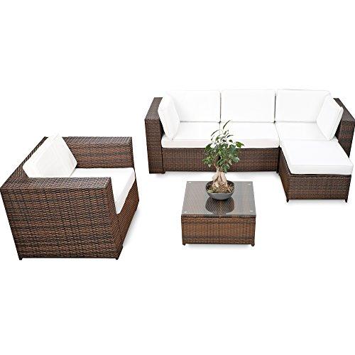 erweiterbares-18tlg-Eck-Lounge-Set-Polyrattan-braun-mix-Garnitur-Gartenmbel-Sitzgruppe-XXXL-Lounge-Gruppe-inkl-Lounge-Sessel-Ecke-Hocker-Tisch-kissen