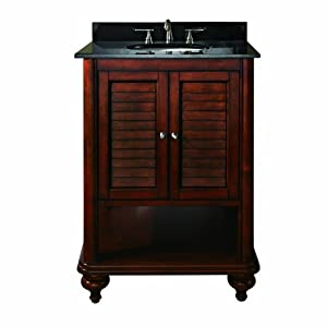 Avanity Tropica-VS24-AB Vanity Set and Undermount Sink Antique Brown 24-Inch