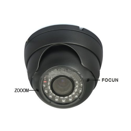 Cctv Color Ccd Ir Dome Camera 1/3 Sharp Chip 420Tvl 4-9Mm Zoon Lens