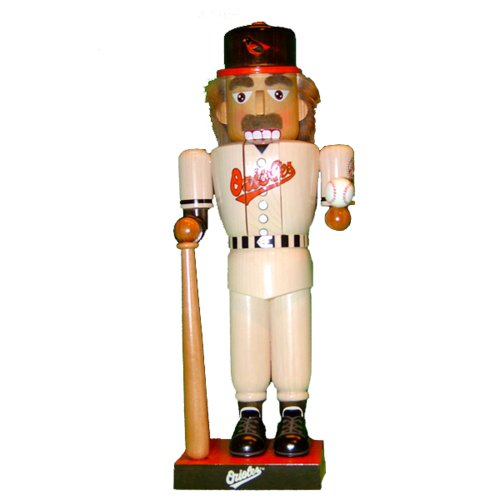 Kurt Adler 14-Inch Baltimore Orioles Baseball Player Nutcracker at Amazon.com