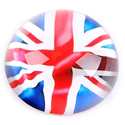 Glass Dome Paperweight, UK Flag