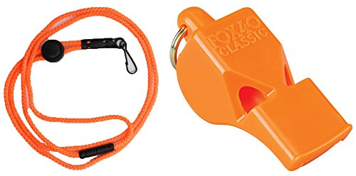Fox 40 Classic Official Whistle with Break Away Lanyard orange (Whistle With Pea compare prices)