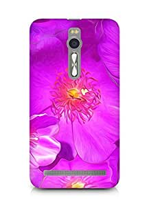 AMEZ Drawn Purple Flowers Back Cover For Asus Zenfone 2