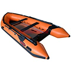 Seamax New Style Ocean430 Orange 14ft Inflatable Boat with Aluminum Floor, Heavy Duty... by SEAMAX MARINE