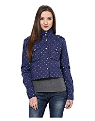 Yepme Women's Blue Cotton Jackets - YPMJACKT5115_S