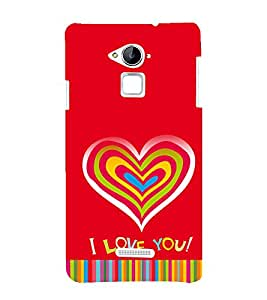 printtech Love Heart Quotes Back Case Cover for Coolpad Note 3 Lite