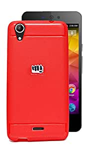Exclusive Premium Matte Finish Soft Back Case Cover Back Cover For Micromax Canvas Selfie Lens Q345 - Red
