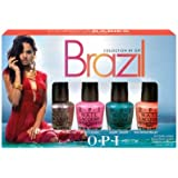 OPI Brazili Nail Polish Collection, Copacababies Mini, 4 Count