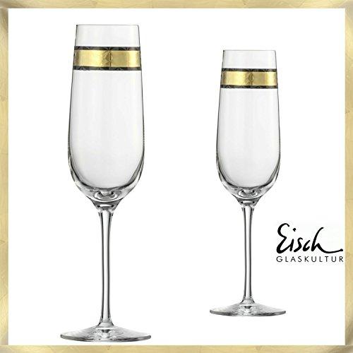 Eisch verre à champagne Delor-Lot de 2Eisch verre 214ml-Eisch verres du fabricant primé Verre No 1niche Eisch