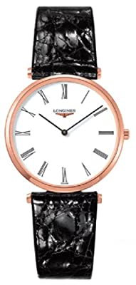 Longines La Grande Classique De Longines White Dial Black Leather Mens Watch L47091112