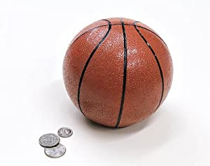 Basketball sports themed coin piggy bank for boys men amazon toys games - Coin banks for boys ...