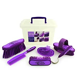 Equestria Sport 7 Piece Carry Box Grooming Set, Purple