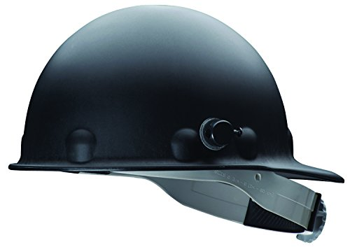 Fibre-Metal by Honeywell P2HNQRW11A000 Super Eight Fiber Glass Ratchet Cap Style Hard Hat with Quick-Lok, Black (Hard Hat Honeywell compare prices)