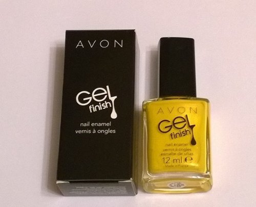 Avon discount duty free Avon Gel Finish Nail Enamel in Limoncello ~ Top Coat Base Coat And Intense Colour In One Bottle