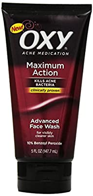 Oxy Maximum Action Advanced Face Wash, 5 Ounce