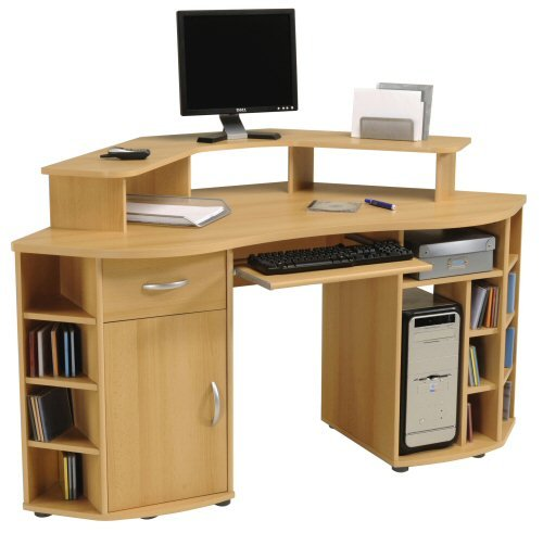 Meubles informatique d angle for Meuble bureau informatique but