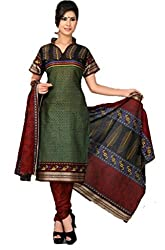 Vivacity Women's Cotton Unstitched Dress Material (GB-19_Multi_Free Size)