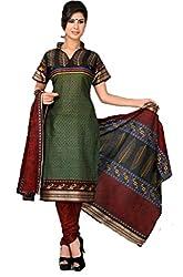 Vivacity Women's Cotton Unstitched Dress Material (GB-19_Multi_Free Size)