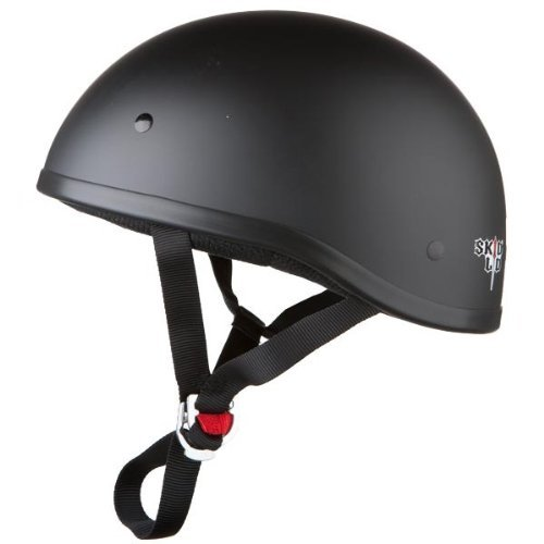 Skid Lid Original Helmet (Flat Black, Large)