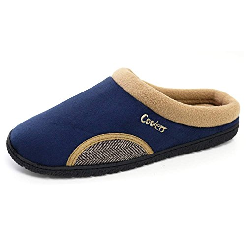 mens-coolers-mule-clog-slippers-with-memory-foam-insoles-sizes-7-12-11-12-uk-navy-tweed