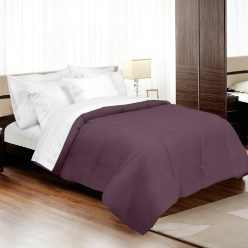 made in the usa 500tc 100 cotton sateen down alternative comforter king mulberry by veratex. Black Bedroom Furniture Sets. Home Design Ideas