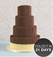 Milk Chocolate Curls Wedding Cake