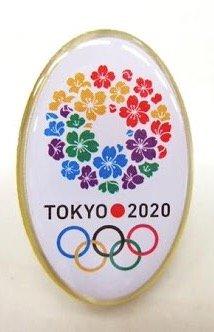 2020 東京オリンピック 招致 ピンバッジ 丸型タイプ 桜のリース デザイン 東京五輪
