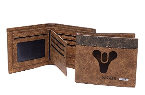 AYHENG Destiny Logo Men's Embossed Leather Bifold Wallet Billfold Wallets (Ps4 Merchandise compare prices)
