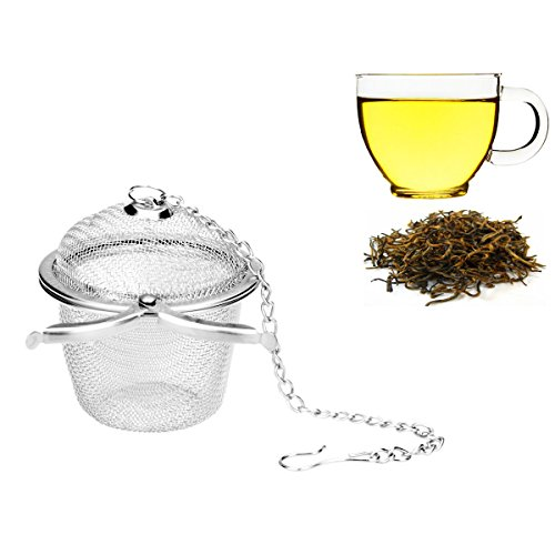 Learn More About Ilyever Stainless Steel Mesh Tea Bag Strainer filter Infuser for Loose Leaf Grain T...