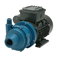 Finish Thompson DB5P-M613 Centrifugal Magnetic Drive Pump, Polypropylene, 1/4 HP, 115V, 1 Phase, 35.2 Max Feet of Head, 19.4 gpm