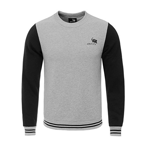 airavata-herren-einfarbig-nahten-rundhalsausschnitt-sweatshirt-leicht-fahren-trainingsanzug