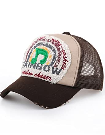 Distressed Begeste NY Casquette filet Marron